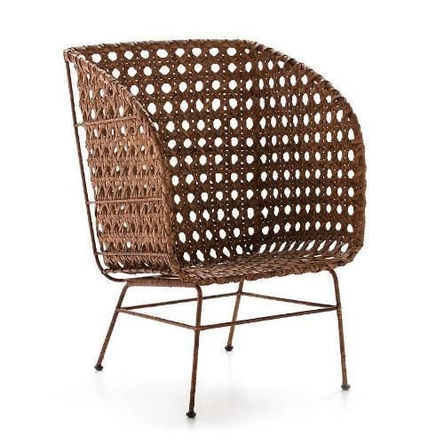 Sessel 73x73x106 Metall/wicker Schatz - Stühle
