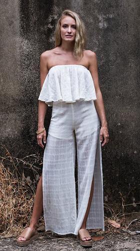 Beachwear cotton Jumpsuit dress