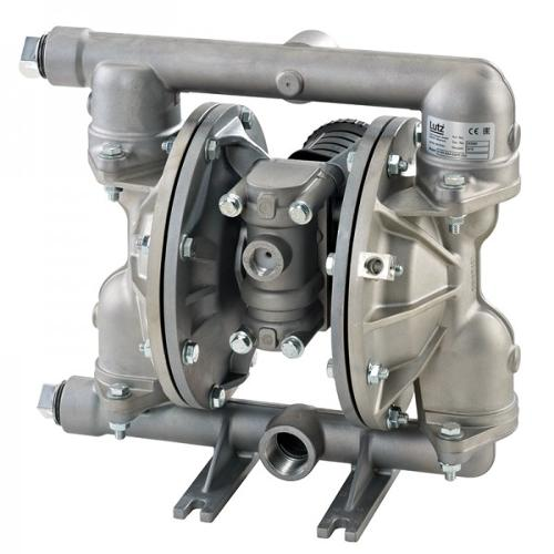 "Double diaphragm pump 1"" made of stainless steel (PTFE..."