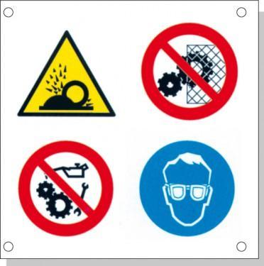 Cartelli pericolo rischi residui B