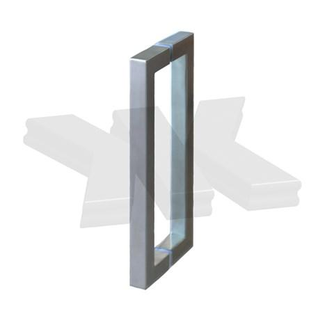 Pull handle square, 25 x 25 mm, stainless steel AISI 304